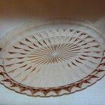 Jeannette Windsor, aka Windsor Diamond pink oval platter, circa 1936-46-$22.00