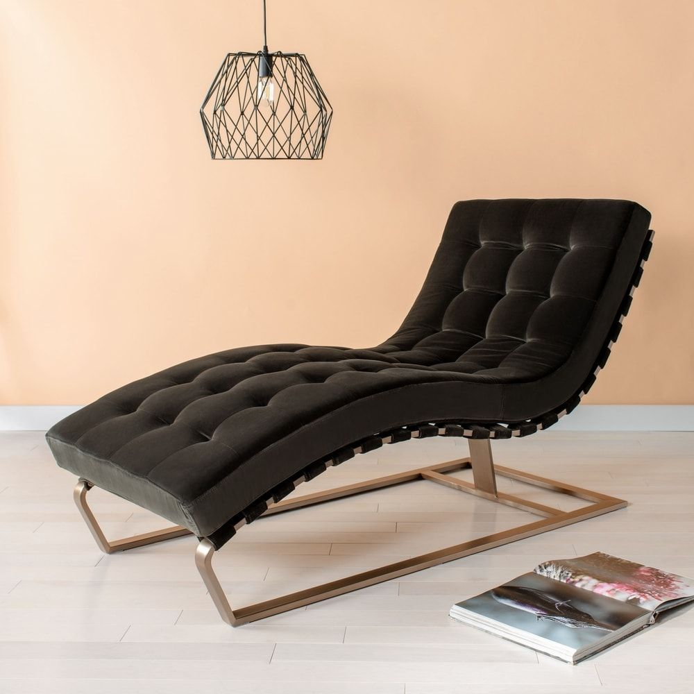 Safavieh Couture Patrice Tufted Velvet Chaise, Gray(Foam ... on Safavieh Chaise Lounge id=96545
