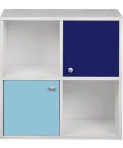 Buy Phoenix Half Door Storage Cubes - Blue on White at Argos.co.uk - Your Online Shop for Storage units, Children's toy boxes and storage.