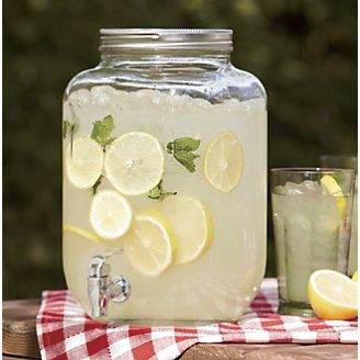 Canning Jar Beverage Dispenser from HomeVisions