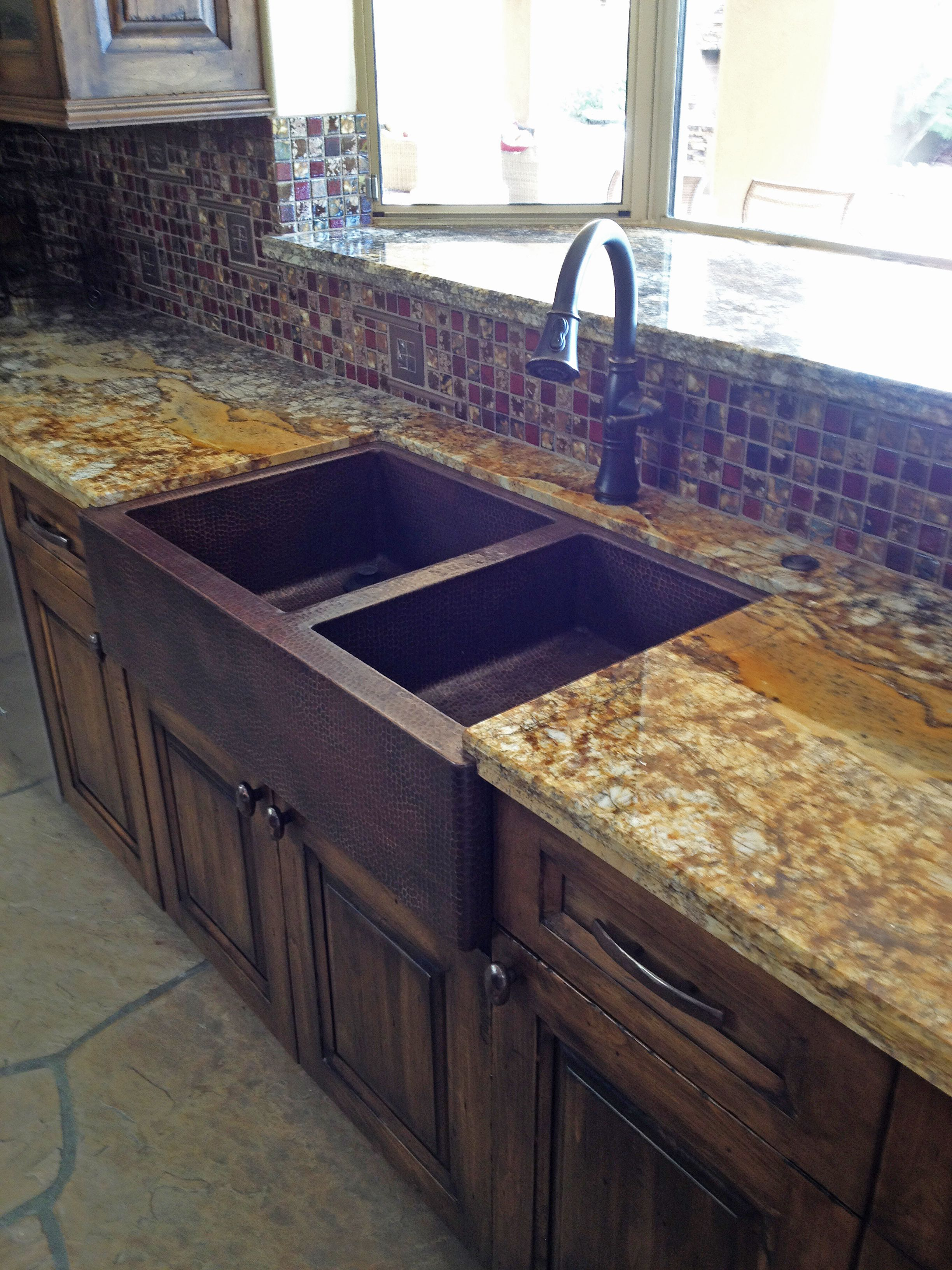 Picture Of 36 Large Double Well Copper Farmhouse Sink 60 40