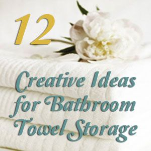 Bathroom Towel Storage 12 Quick Creative & Inexpensive Ideas Unique Storage For Towels In Small Bathroom Inspiration