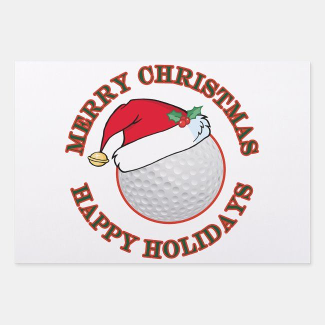 Funny Golf Ball Merry Christmas Happy Holiday Wrapping Paper Sheets -   19 happy holiday Funny ideas