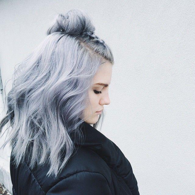 Instagram Insta Glam Grey Hair Curly Hair Styles Dyed Hair