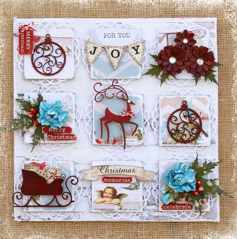 Canvas Christmas card crafts, Christmas canvas, Weeks