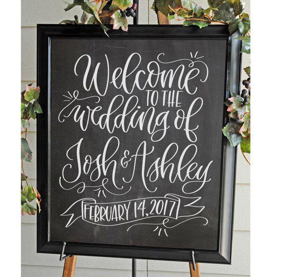Welcome To The Wedding Of Custom Chalkboard Sign W