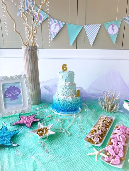 5 Pk Mermaid party decorations Perfect for Mermaid baby shower and Mermaid Birthday parties Get over 60 feet. Under the Sea Party