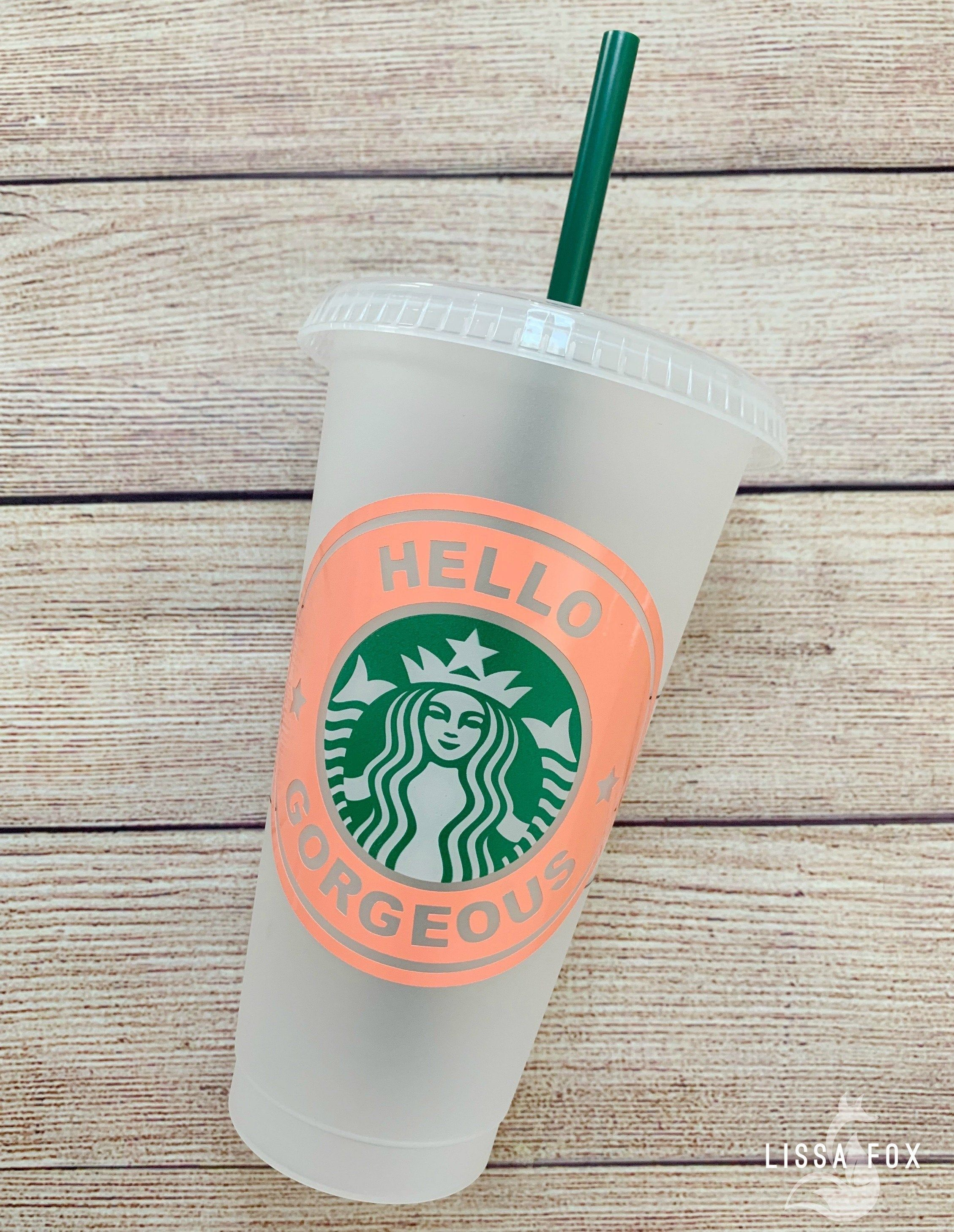Personalized Starbucks Reusable Ice Coffee Cups 24oz Cup
