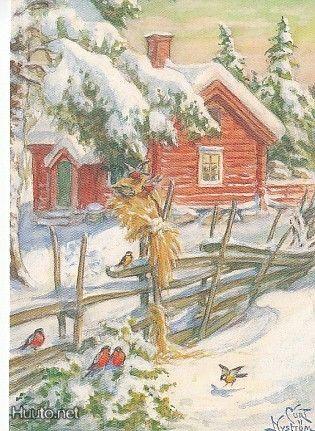 Gerbe de blé pour les oiseaux, Scandinavie, Curt Nyström
