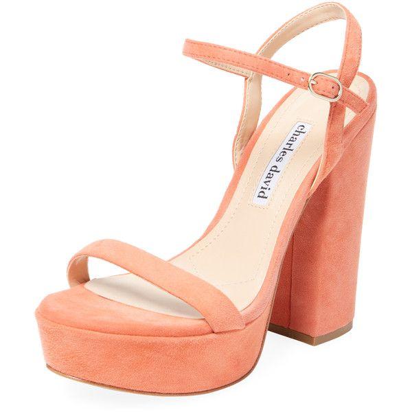 bcc740fc55ac Charles David Women s Regal Leather Sandal - Orange