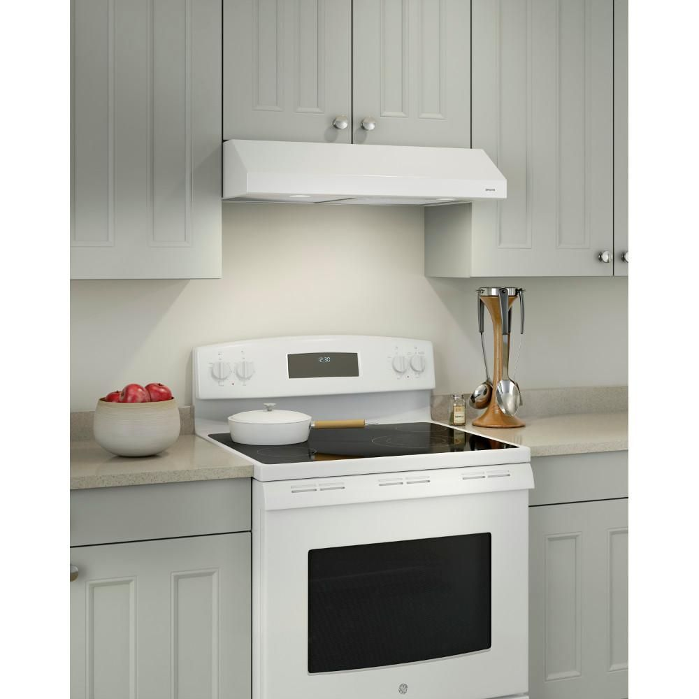 Broan Nutone Glacier 24 In Convertible Under Cabinet Range Hood With Light In White Bcsd124ww The Home Depot Under Cabinet Range Hoods Broan Range Hood