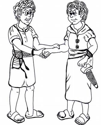 david and jonathan bible lesson david and jonathan coloring pages