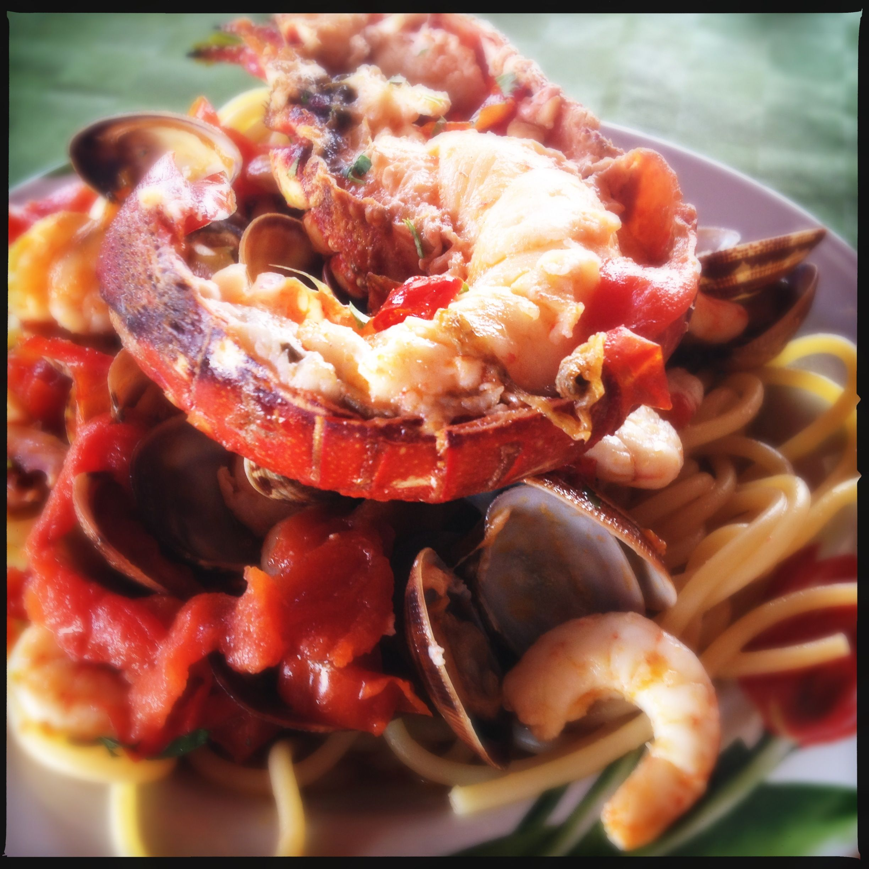 Sea food with lobster. Great paring with #sauvignon villa job #organic
