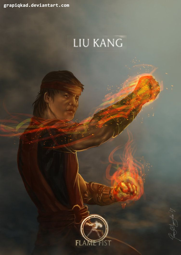 Mortal Kombat X Liu Kang Flame Fist Variation By Grapiqkad