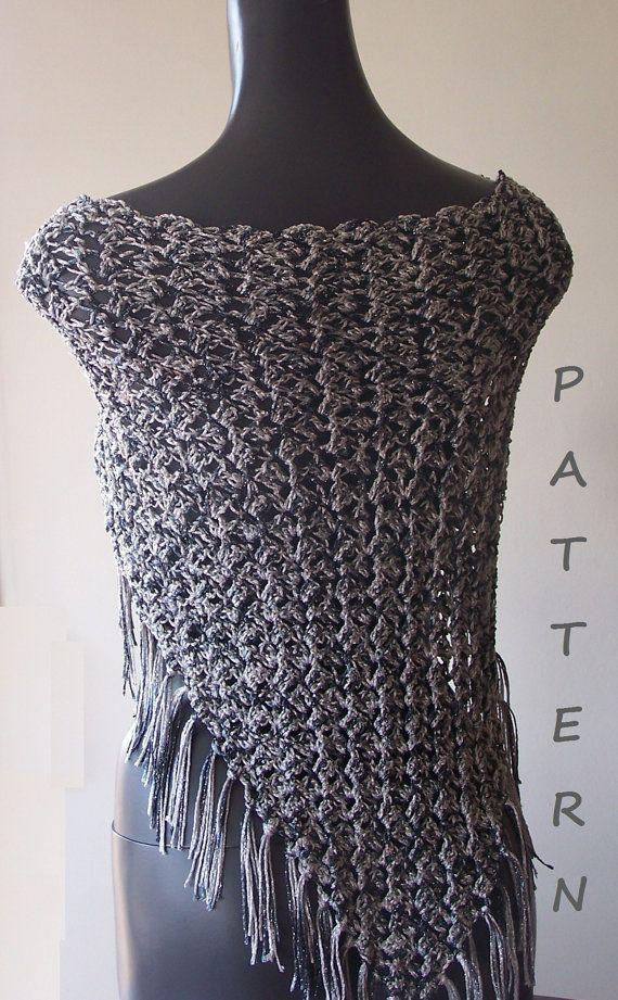 Crochet Shawl Pattern Fast & Easy PDF 006 by vivartshop on Etsy ...