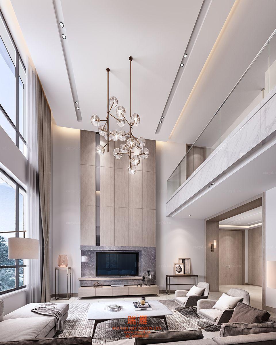 Lustre Bolas High Ceiling Living Room Modern High Ceiling Living Room Luxury Living Room