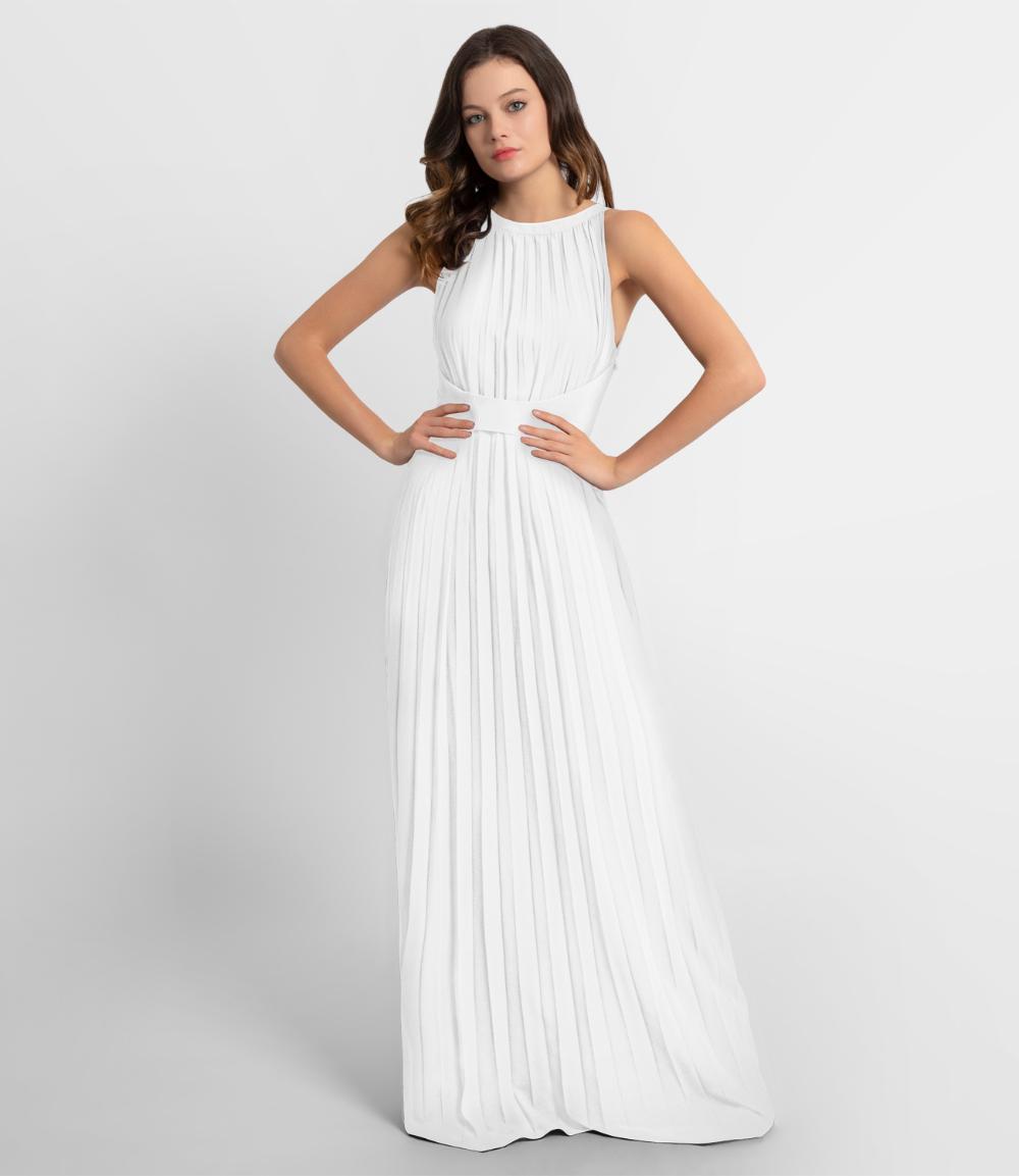 Abendkleid Aus Plissiertem Chiffon Creme Apart Fashion Abendkleid Kleider Chiffon Kleid