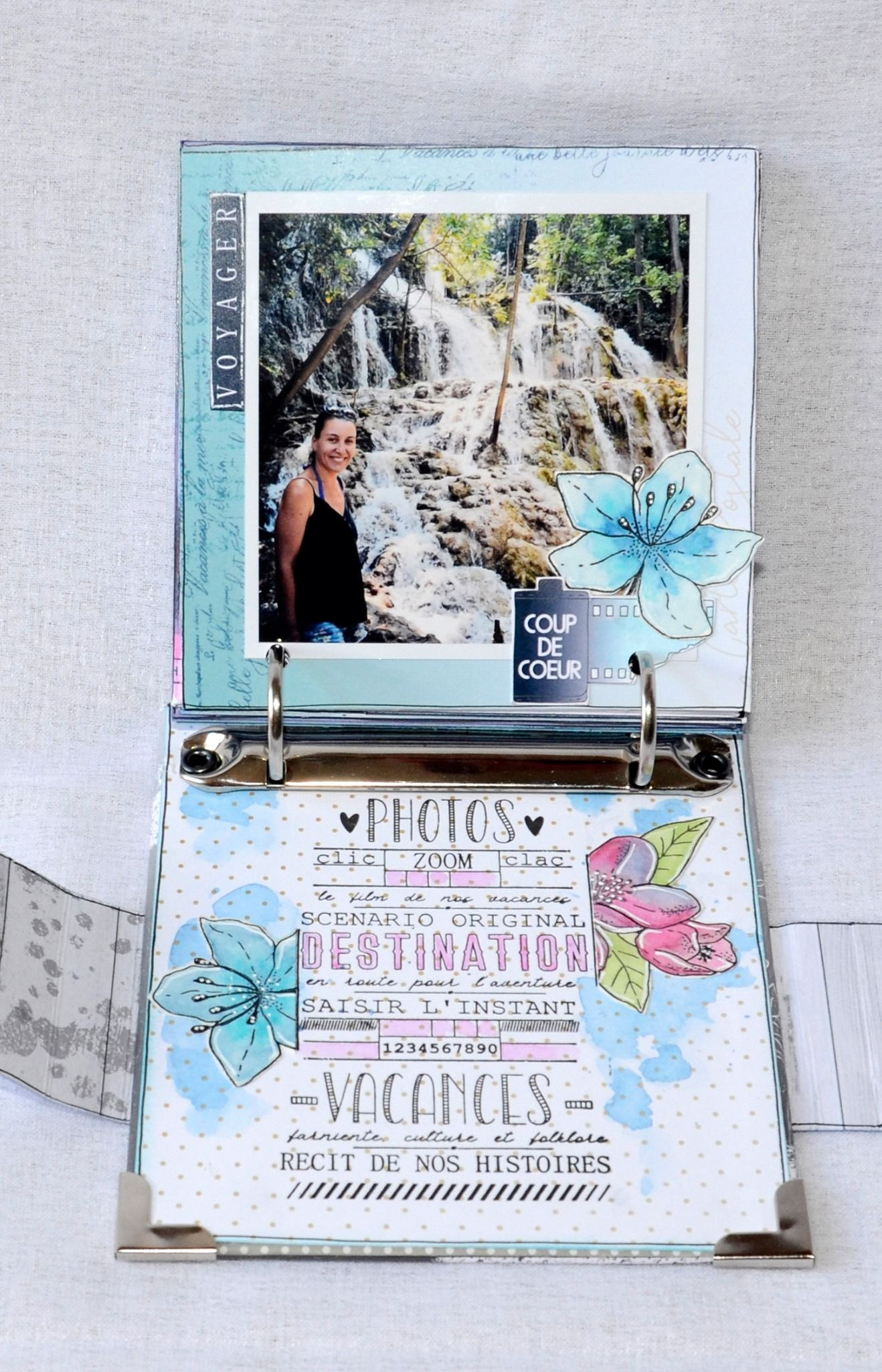 Mini Album Carte Postale Par Pinklola Chou Flowers Mini Albums Carte Postale Carte