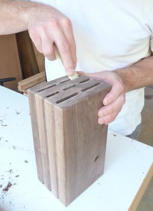 How To Build A Wooden Knife Block Diy Knife Block Plans Drevo