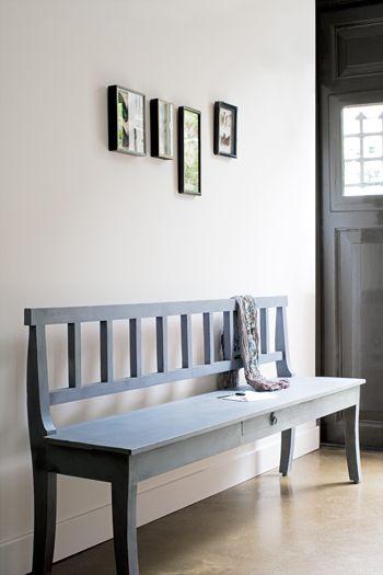 Houten bank voor in de hal nieuwe huis pinterest houten bank bank en eettafel - Interieur binnenkomst ...