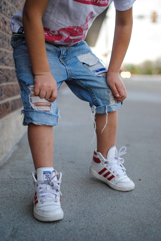 4c546d6f0a Boardwalk Shorts // Boys Distressed Denim Shorts // Baby Boy Shorts by Farm  Fresh Denim
