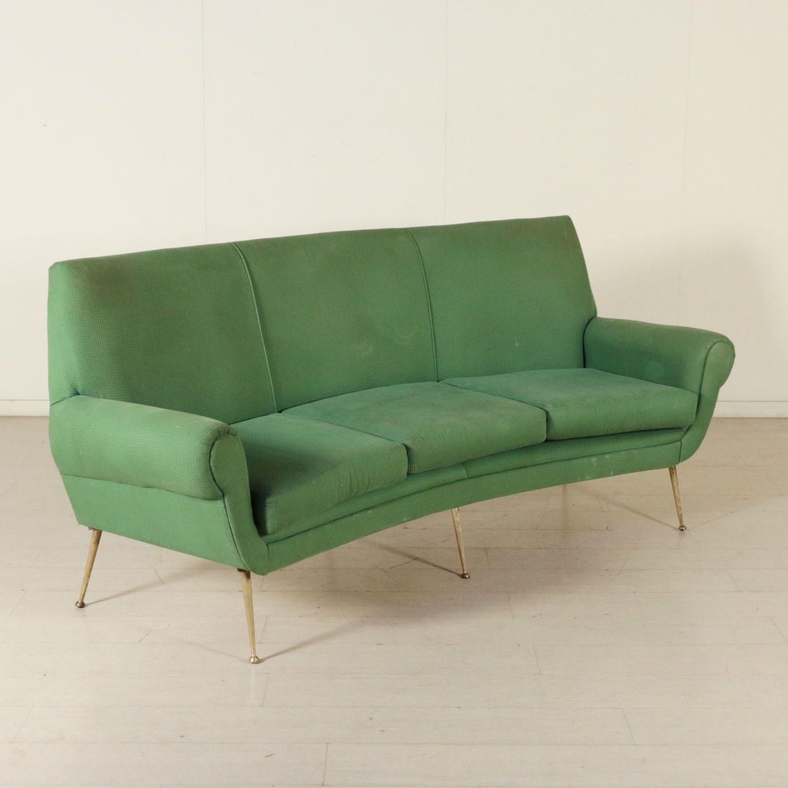 Divano vintage anni 50-60; imbottitura in espanso, rivestimento in ...