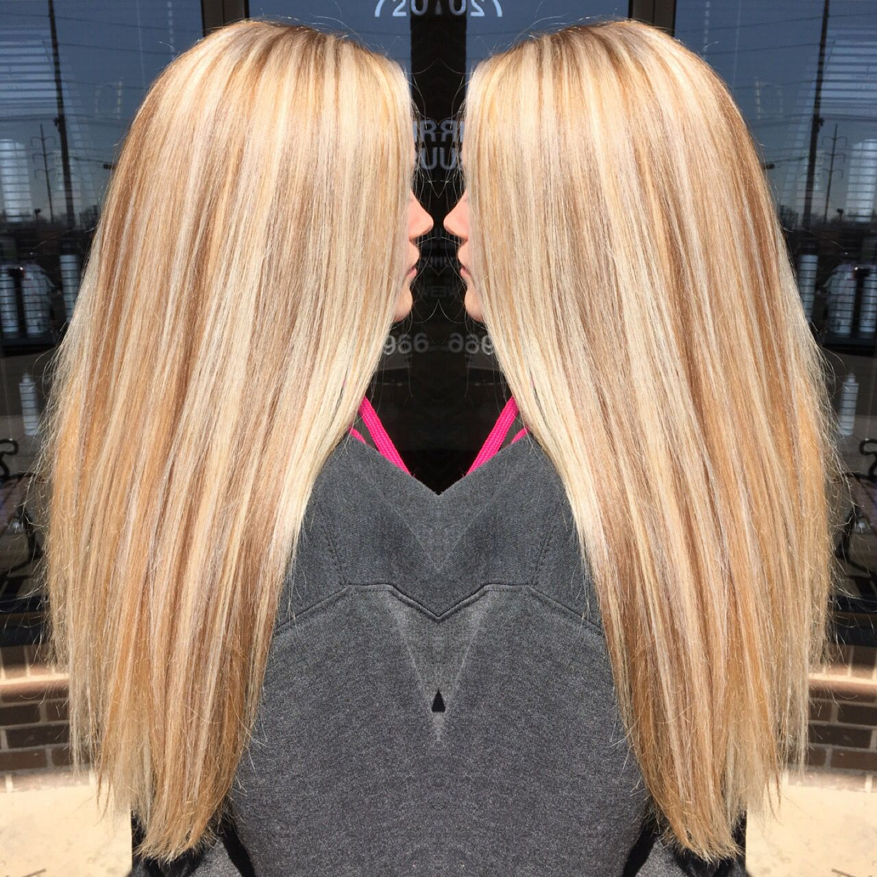 of shades platinum golden colors and hair highlights blonde