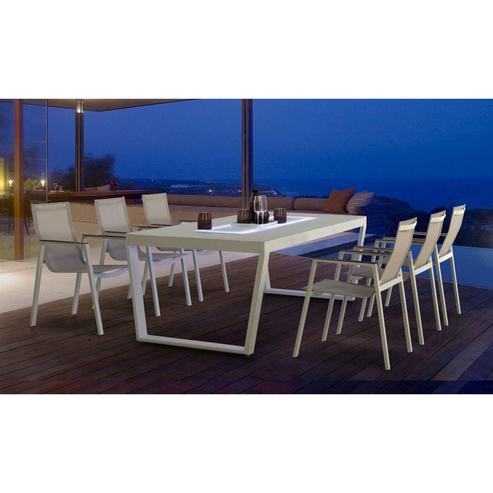 Maze Rattan Venus LED 6 Seat Dining Set