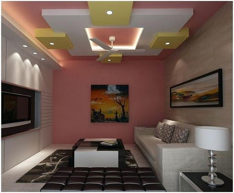 Ceiling Design For Living Room With Ceiling Fan Awesome False