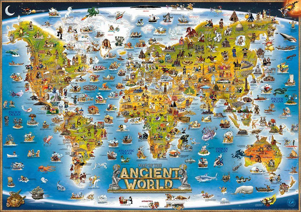 Dinos world ancient illustrated by dino maps buy maps the ancient world map is beautifully illustrated by dinosmpas the ancient world includes ancient cultures civilizations myths and legends and more gumiabroncs Gallery
