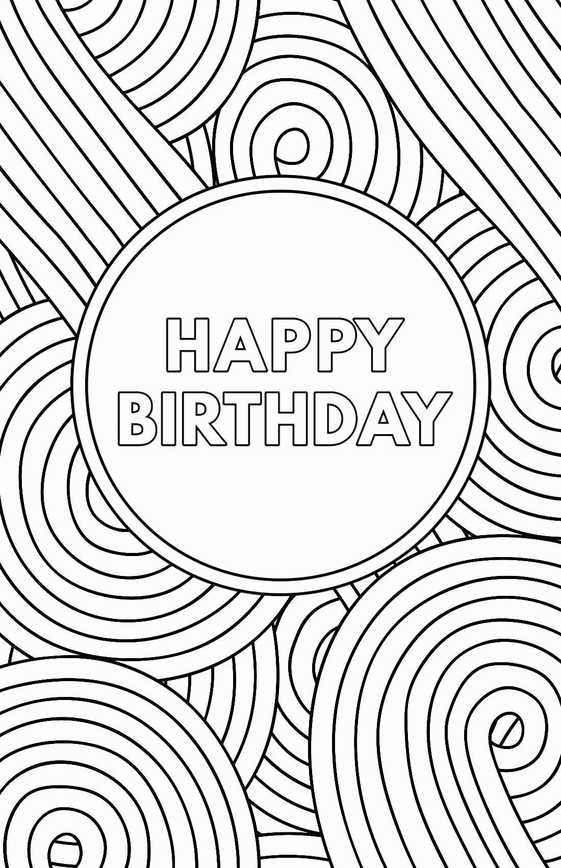 Coloring Birthday Card Printable Best Of Happy Birthday Card Coloring Template Geburtstagskarten Zum Ausdrucken Geburtstagskarte Grusskarten