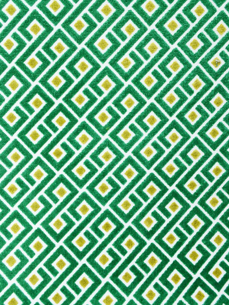 TETHER EMERALD plus geometric fabric  $49.95/yd