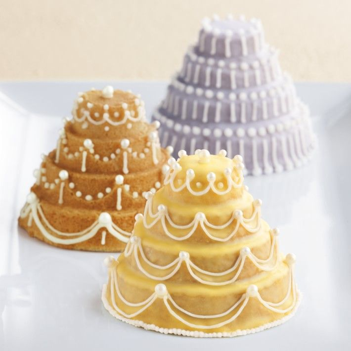 Nordic Ware Mini Tiered Cakelet Pan | Wedding Cakes | Pinterest ...