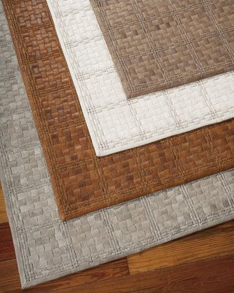 Nourcouture Derby Woven Leather Rug