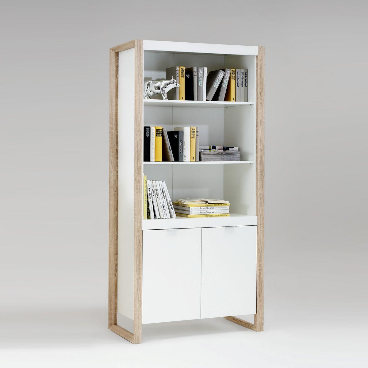 regalschrank bueroschrank frame regal schrank in weiss und buche stube fewo armoire frame. Black Bedroom Furniture Sets. Home Design Ideas