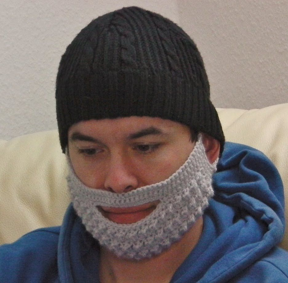 Beard mask crochet tutorial | crochet | Pinterest | Gorros y Varios