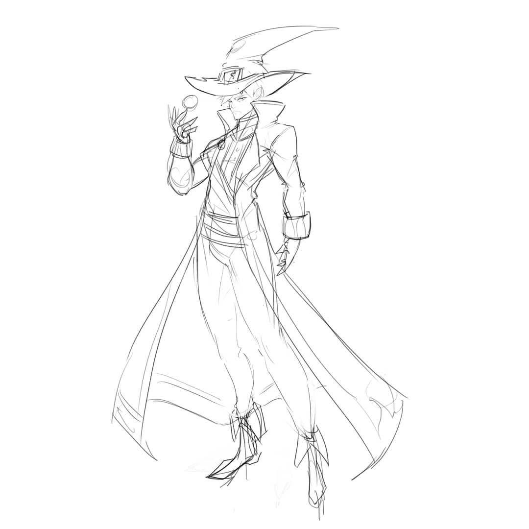 Simple Wizard Design Today D Art Artist Sketch