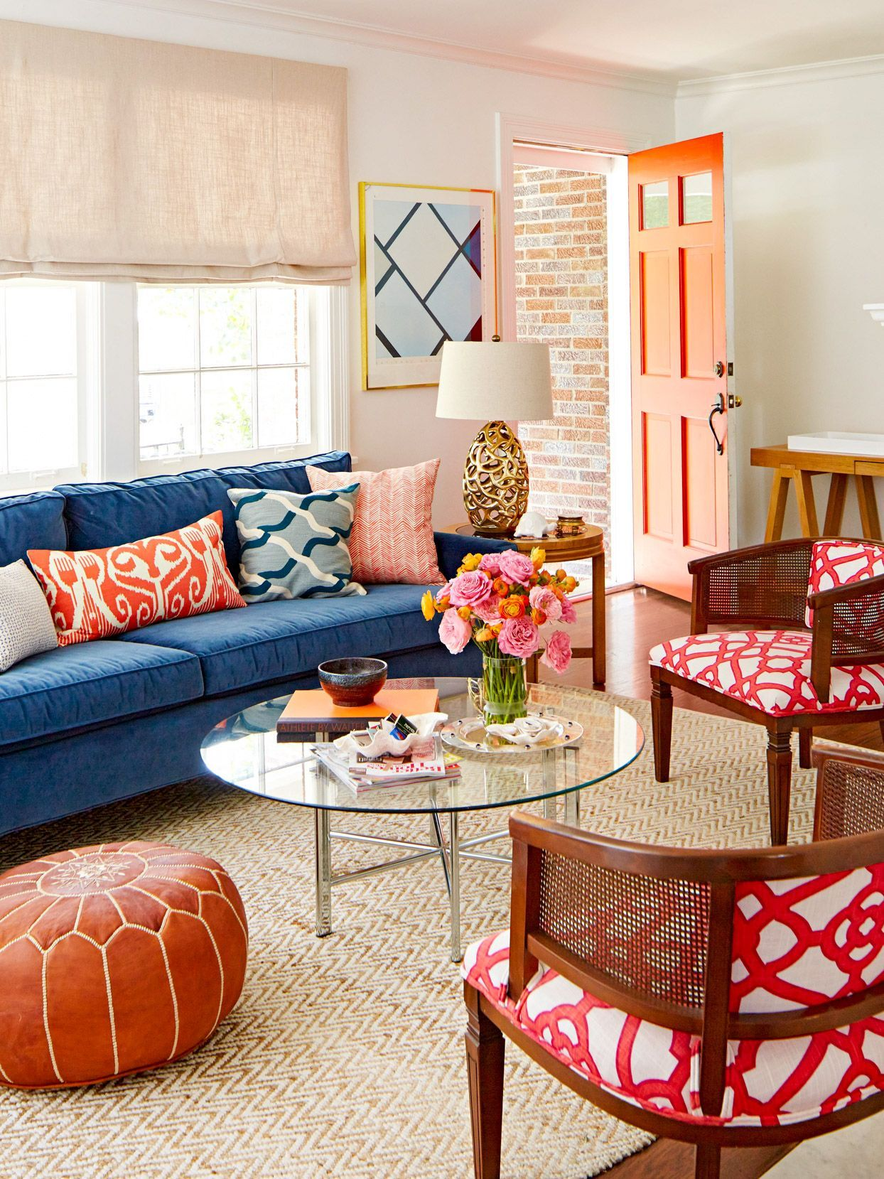 23 Gorgeous Complementary Color Schemes In 2021 Blue Sofas Living Room Living Room Color Schemes Blue Sofa Living