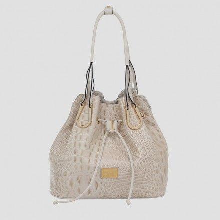 Bolsa saco em couro com textura   Smartbag Bolsas