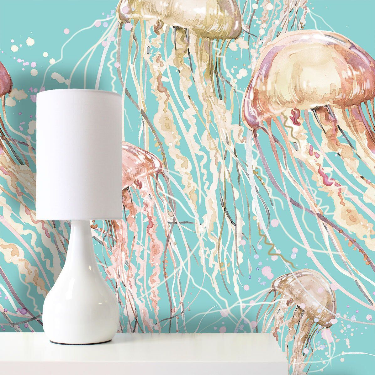 Jellyfish Wallpaper Removable Wallpaper Self Adhesive Wallpaper Pasted Wallpaper Mural Temporar Removable Wallpaper Self Adhesive Wallpaper Bold Wallpaper