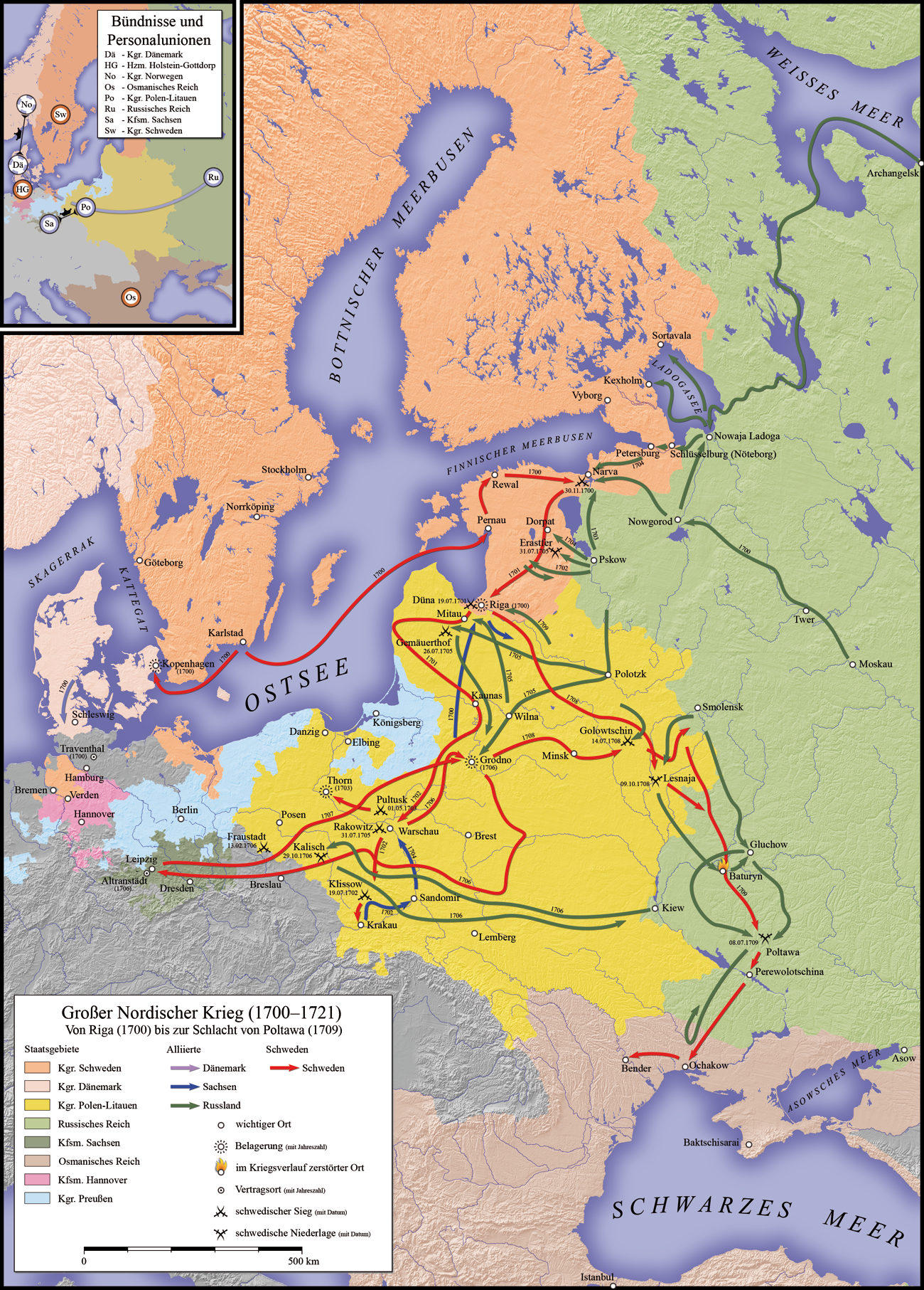 Map Of Sweden Russian War 1700 1721 All Sort Of Things