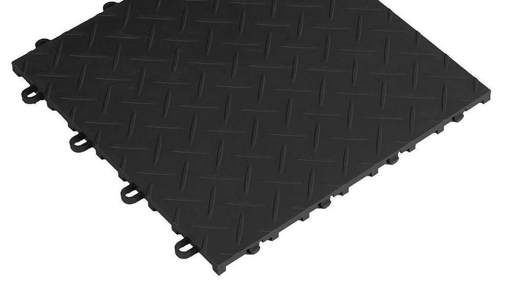 """NEW Garage Flooring Viper Tool Storage 12"""" Black RaceDeck Diamond Tiles (4 Pack) #RaceDeck"""