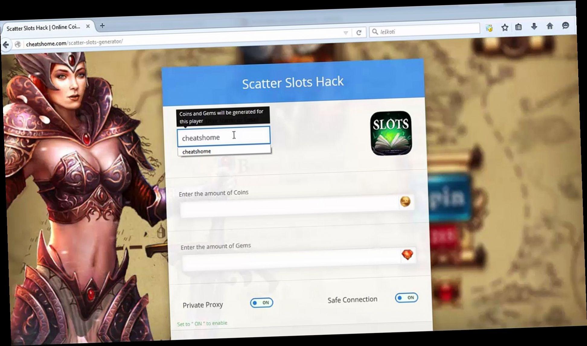 Scatter Slots Hack Tool