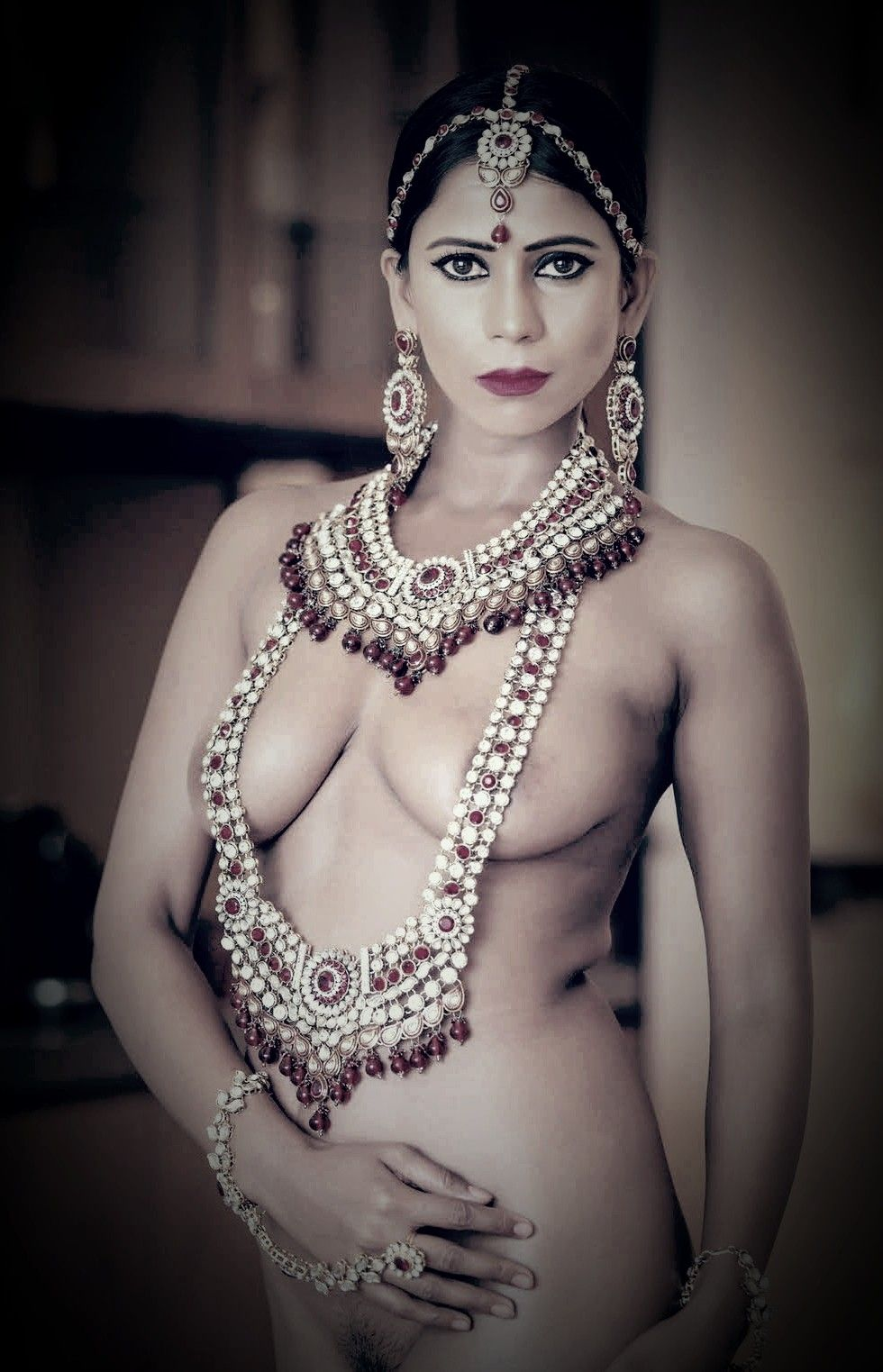 indian Nude desi Necklaces