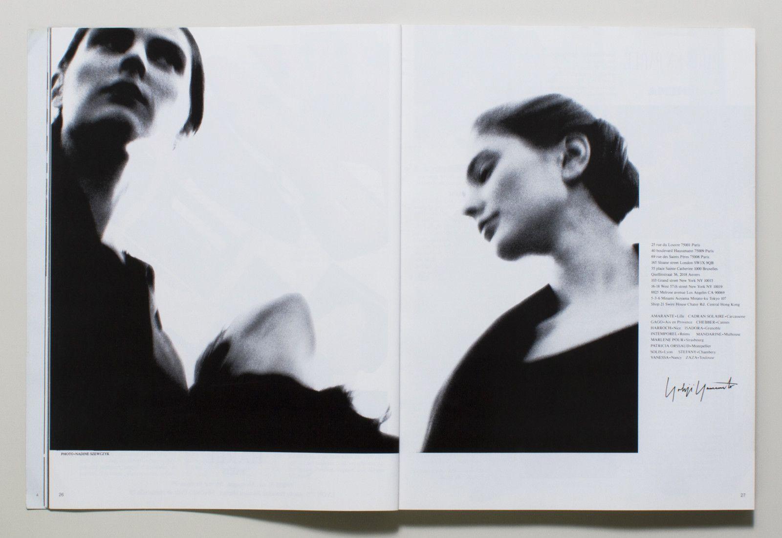 Yohji Yamamoto - Vogue Paris - Fév. 1989
