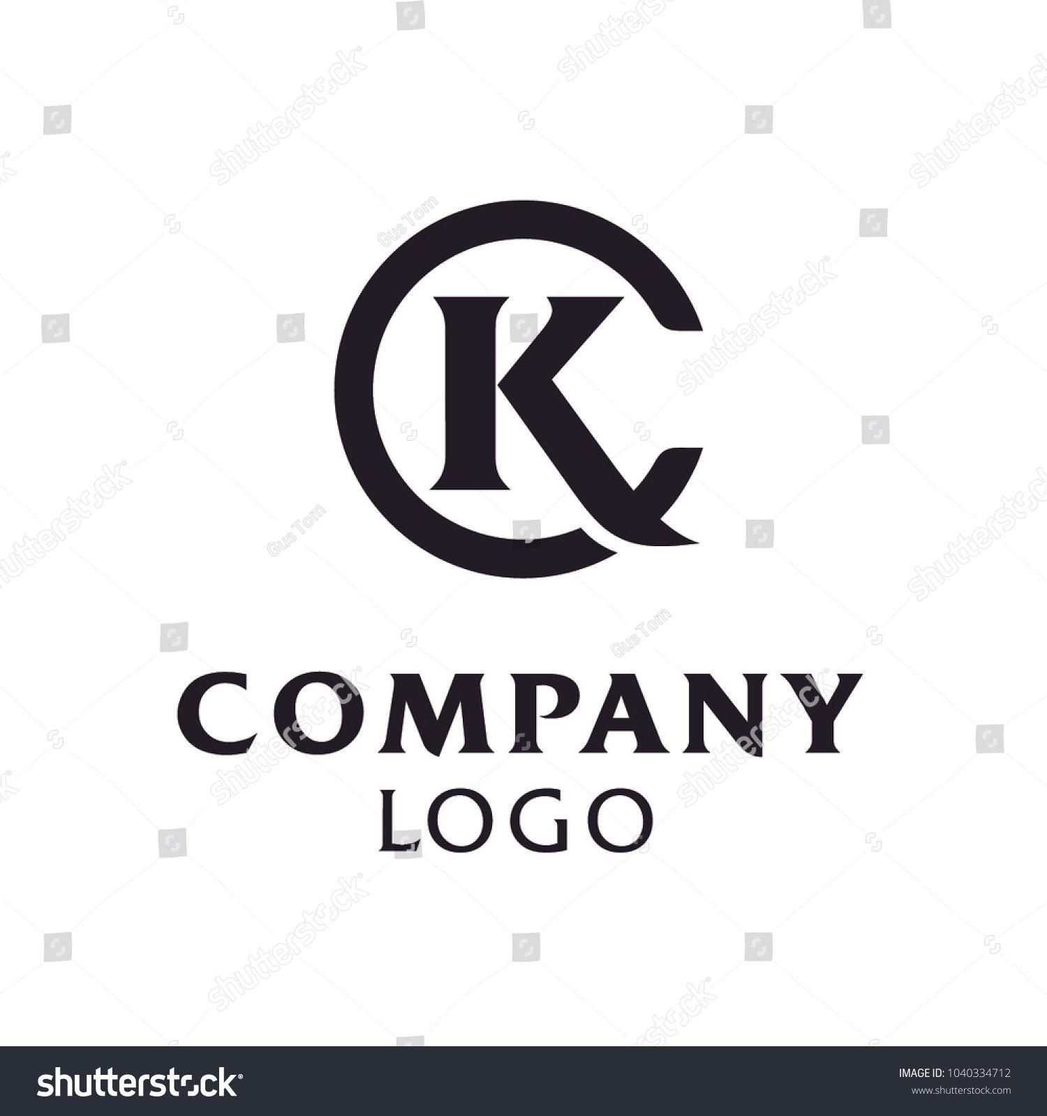 Initials Monogram Letter C K, KC, CK, logo design in 2020