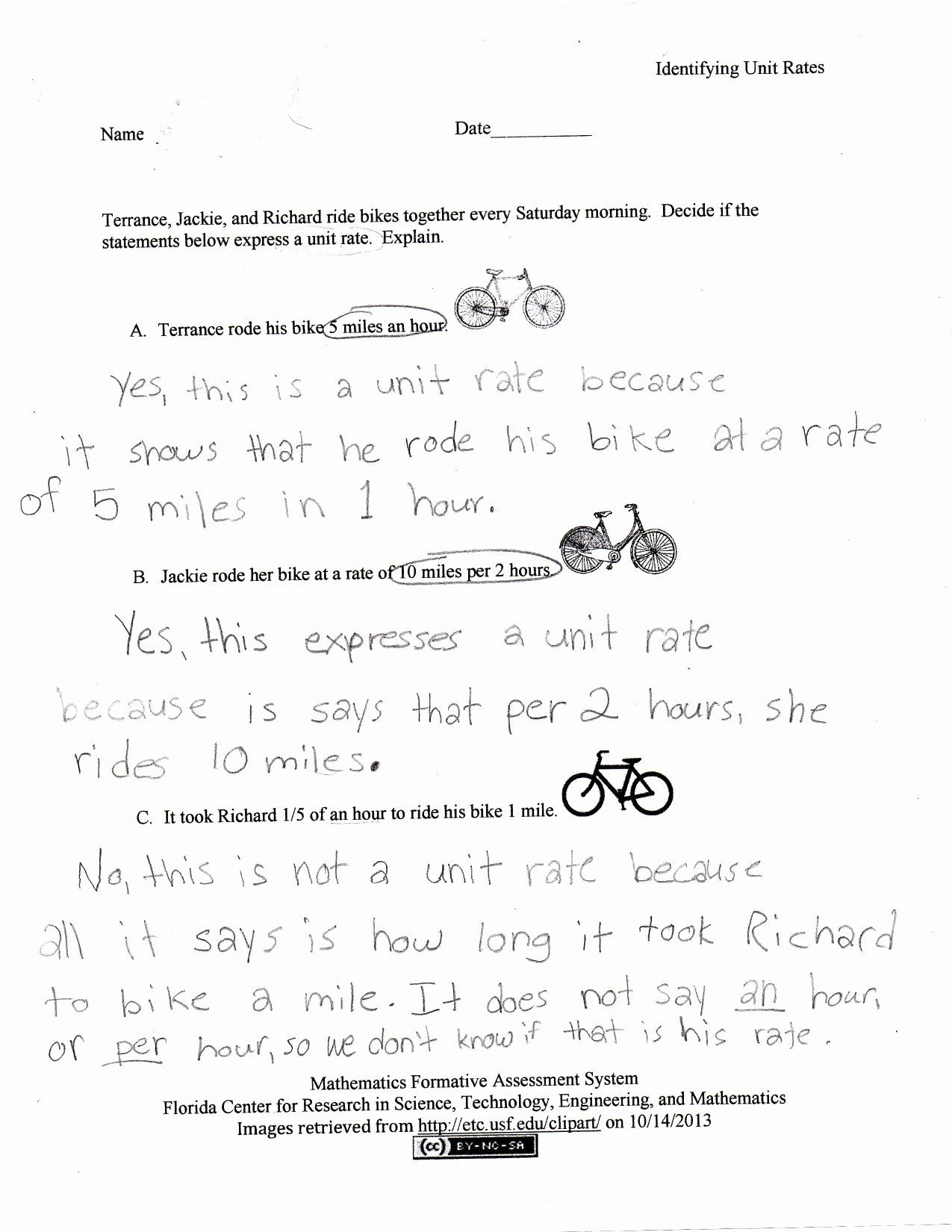 Unit Rate Word Problems Worksheet Fresh Unit Rate