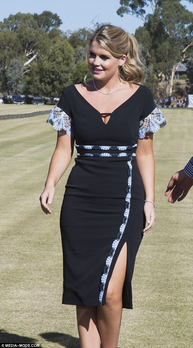 Lady Kitty Spencer Wows In Little Black Dress At Wa Polo Event