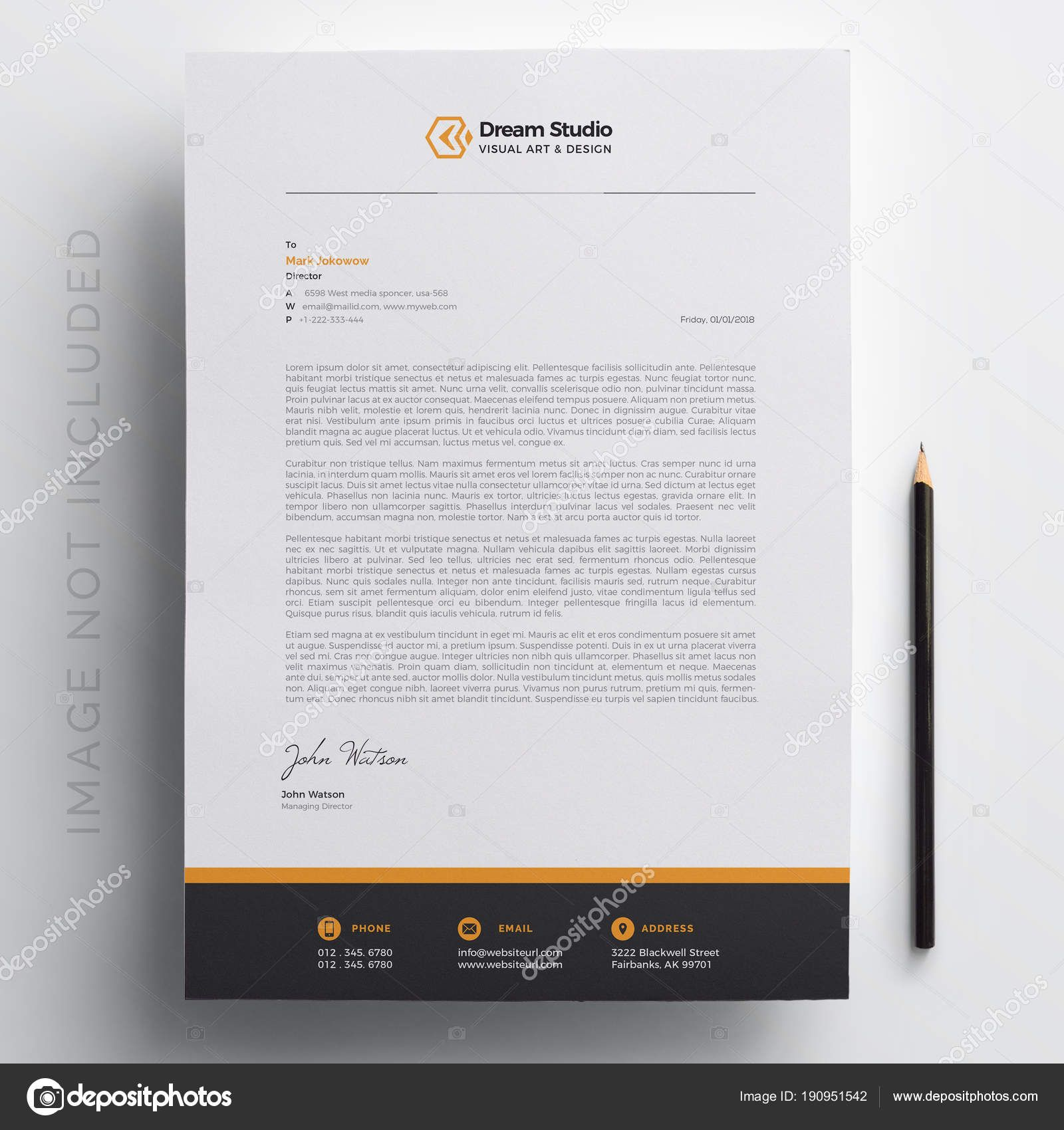 Download - Modern Company Letterhead Template — Stock Illustration ...