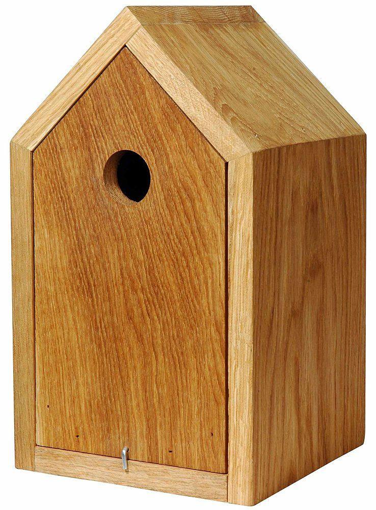 design nistkasten aus ge ltem eichenholz mit spitzdach korpus herausziehbar garten haus. Black Bedroom Furniture Sets. Home Design Ideas